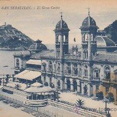 Postales: SAN SEBASTIÁN, EL GRAN CASINO, EDITOR: GREGORIO G. GALARZA Nº 17. Lote 29322584