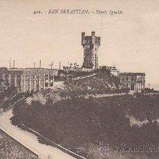 Postales: SAN SEBASTIÁN, MONTE IGUELDO, EDITOR: GREGORIO G. GALARZA Nº 412. Lote 29322725