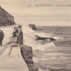 Postales: SAN SEBASTIÁN, PASEO DEL CASTILLO, EDITOR: GREGORIO G. GALARZA Nº 351. Lote 29351065