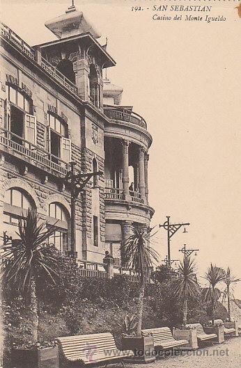 SAN SEBASTIÁN, CASINO DEL MONTE IGUELDO, EDITOR: GREGORIO G. GALARZA Nº 1 (Postales - España - País Vasco Moderna (desde 1940))