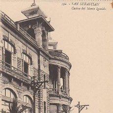 Postales: SAN SEBASTIÁN, CASINO DEL MONTE IGUELDO, EDITOR: GREGORIO G. GALARZA Nº 1. Lote 29351412