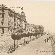 Postales: TARJETA POSTAL DE SAN SEBASTIAN - HOTEL MARIA CRISTINA Y EL TEATRO - HAUSER Y MENET - MADRID. Lote 29407513