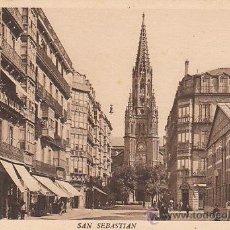 Postales: SAN SEBASTIÁN, CALLE SAN IGNACIO DE LOYOLA, EDITOR: FOTO GARLARZA Nº 152. Lote 29407561