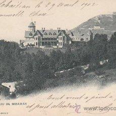 Postales: SAN SEBASTIAN, PALACIO MIRAMAR, EDITOR: HAUSER Y MENET Nº 904, CIRCULADA EN 1902 (VER DORSO). Lote 29449793