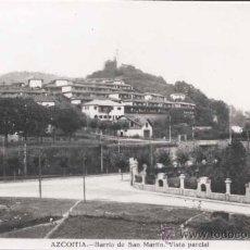 Postales: AZCOITIA (GUIPUZCOA).- BARRIO DE SAN MARTIN. VISTA PARCIAL. Lote 29683725