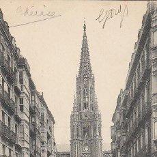 Postales: SAN SEBASTIÁN, IGLESIA DEL BUEN PASTOR, EDITOR: G. G. GALARZA, CIRCULADA EN 1911. Lote 29707020