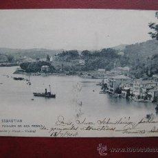 Postales: SAN SEBASTIAN - PASAJES DE SAN PEDRO. Lote 30064412