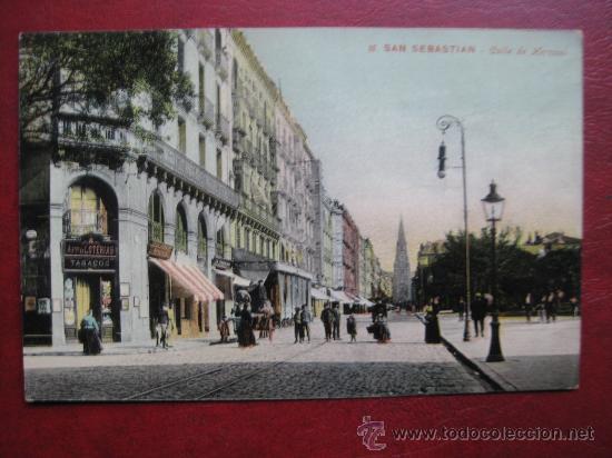 SAN SEBASTIAN - CALLE DE HERNANI (Postales - España - Pais Vasco Antigua (hasta 1939))
