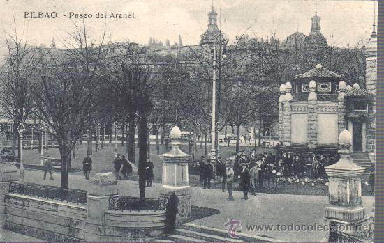 POSTAL DE BILBAO PASEO DEL ARENAL DE A H E (Postales - España - País Vasco Moderna (desde 1940))