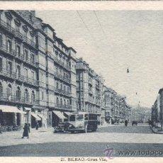 Postales: POSTAL DE BILBAO GRAN VIA DE ROISINI. Lote 30501841