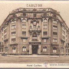 Postales: POSTAL DE BILBAO DEL HOTEL CARLTON - DE H.U.S.A HOTELES REUNIDOS SA. Lote 30653246
