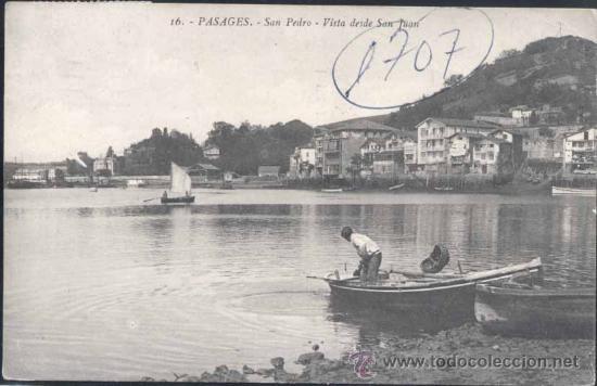 PASAJES (GUIPUZCOA).- SAN PEDRO- VISTA DESDE SAN JUAN (Postales - España - Pais Vasco Antigua (hasta 1939))