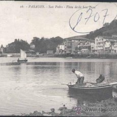 Postales: PASAJES (GUIPUZCOA).- SAN PEDRO- VISTA DESDE SAN JUAN. Lote 30159312