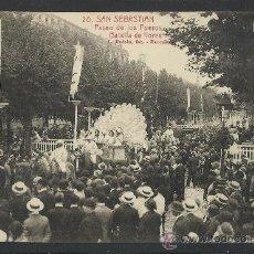 Postales: SAN SEBASTIAN -20- PASEO DE LOS FUEROS - BATALLA DE FLORES - (8633). Lote 30217992