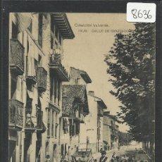 Postales: IRUN - CALLE DE SANTIAGO - COLECCION VALVERDE - (8636). Lote 30218112