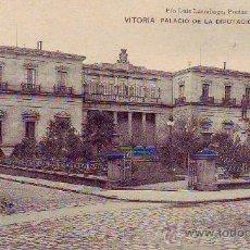 Postales: VITORIA - PALACIO DE LA DIPUTACION - PIO LUIS LARRAÑAGA. Lote 30376036