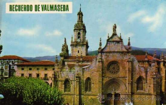 VALMASEDA 7127 VIZCAYA IGLESIA SAN SEVERINO ED. BEASCOA ESCRITA CIRCULADA SELLOS (Postales - España - País Vasco Moderna (desde 1940))