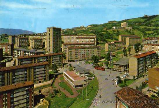 BILBAO 7326 VISTA PARCIAL OCHARCOAGA ED. BEASCOA ESCRITA CIRCULADA DOS SELLOS (Postales - España - País Vasco Moderna (desde 1940))
