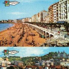 Postales: 2 POSTALES DE SAN SEBASTIÁN, S/C. Lote 30512742