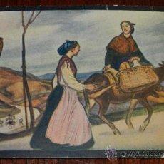 Postales: ANTIGUA POSTAL EDITADA POR LA ASOCIACION DE ARTISTAS VASCOS, BILBAO EN 1916, CUADRO DE AURELIO ARTET. Lote 30568664