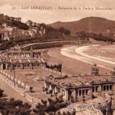Postales: SAN SEBASTIÁN Nº 99 BALNEARIO DE LA PERLA Y MIRACONCHA FOTO EDITOR GREGORIO G. GALARZA SIN CIRCULAR . Lote 30595709