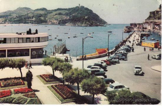 SAN SEBASTIAN. CLUB NAUTICO Y BAHIA. PAIS VASCO (Postales - España - País Vasco Moderna (desde 1940))