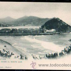 Postales: TARJETA POSTAL DE SAN SEBASTIAN - VISTA DESDE EL MONTE ULIA. 912. HAUSER Y MENET. Lote 30964160