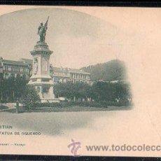 Postales: TARJETA POSTAL DE SAN SEBASTIAN - ESTATUA DE OQUENDO. 359. HAUSER Y MENET. Lote 30964186