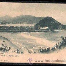 Postales: TARJETA POSTAL DE SAN SEBASTIAN - VISTA DESDE EL MONTE ULIA. 912. HAUSER Y MENET. Lote 30964201