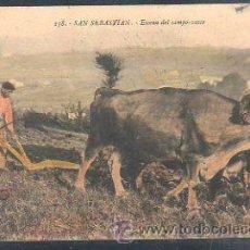 Postales: TARJETA POSTAL SAN SEBASTIAN - ESCENA DEL CAMPO-VASCO. 158. G.G. GALARZA. Lote 30992100