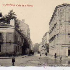 Postales: VITORIA. 12. FOTOTIPIA THOMAS 2704. SIN CIRCULAR. CALLE DE LA FLORIDA.. Lote 31249906