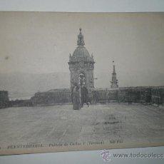 Postales: FUENTERRABÍA.- PALACIO DE CARLOS V (TERRAZA). TARJETA POSTAL SIN CIRCULAR. Lote 30954344
