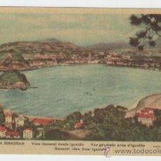 Postales: SAN SEBASTIAN - VISTA GENERAL DESDE IGUELDO - EDICIÓN MANIPEL - POSTAL. Lote 31313473