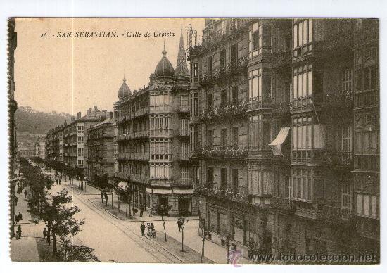 POSTAL DE SAN SEBASTIAN - CALLE DE URBIETA Nº 46 (Postales - España - Pais Vasco Antigua (hasta 1939))