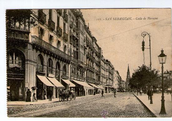 POSTAL DE SAN SEBASTIAN CALLE DE HERNANI Nº 3 (Postales - España - Pais Vasco Antigua (hasta 1939))
