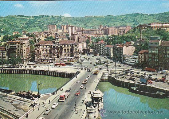 BILBAO: PUENTE DEL GENERAL MOLA Y AYUNTAMIENTO: BONITA POSTAL, SIN USAR, DE EDICIONES VISTABELLA. (Postales - España - País Vasco Moderna (desde 1940))