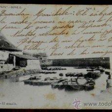 Postales: ANTIGUA POSTAL DE GUETARIA (GUIPUZCOA) EL MUELLE, COLECCION PEPE, SERIE 2, CIRCULADA Y SIN DIVIDIR. Lote 31678042