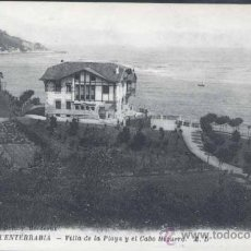 Postales: FUENTERRABIA (GUIPUZCOA).- VILLA DE LA PLAYA Y EL CABO HIGUERO. Lote 31689791