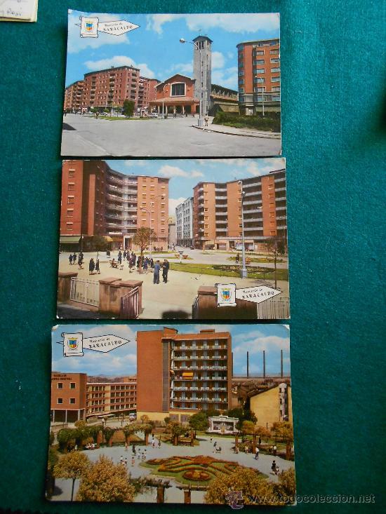 LOTE 3 POSTALES BARACALDO AÑOS 60 (Postales - España - País Vasco Moderna (desde 1940))