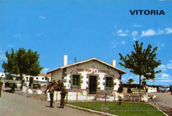 VITORIA CAMPAMENTO MILITAR DE ARACA GARRIDO ESCRITA CIRCULADA SELLO AÑO 1966 (Postales - España - País Vasco Moderna (desde 1940))