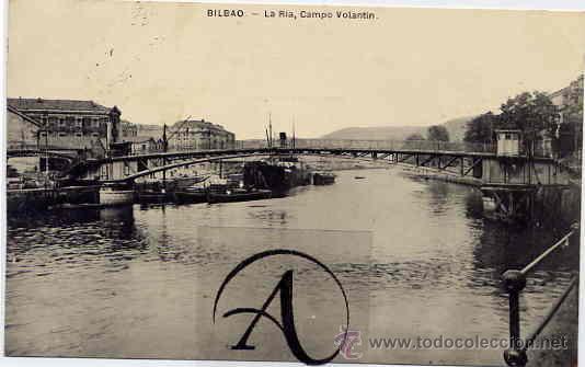 BILBAO. LA RIA, CAMPO VOLANTIN (Postales - España - Pais Vasco Antigua (hasta 1939))