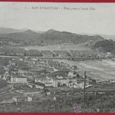 Postales: TARJETA POSTAL DE SAN SEBASTIÁN VISTA GENERAL DESDE ULÍA CIRCULADA FECHADA 1914. Lote 32082545