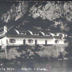 Postales: SOBRÓN (ÁLAVA).- RESIDENCIA ORIOL- POSTAL FOTOGRÁFICA. Lote 32040328