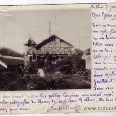 Postales: BILBAO. 1904. POSTAL FOTOGRÁFICA. REVERSO SIN DIVIDIR. CIRCULADA. CHALET.. Lote 32059440