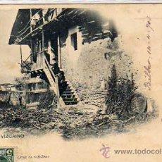 Postales: CASERIO VIZCAINO. LANDABURU. REVERSO SIN DIVIDIR. CIRCULADA. BILBAO VIZCAYA.. Lote 32066714