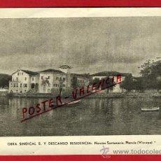 Postales: POSTAL, PLENCIA, VIZCAYA, OBRA SINDICAL E. Y DESCANSO RESIDENCIA, P69982. Lote 32227870