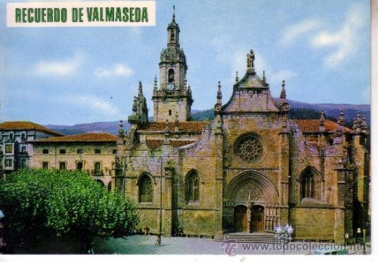 VALMASEDA - VIZCAYA - IGLESIA DE SAN SEVERIANO (Postales - España - País Vasco Moderna (desde 1940))