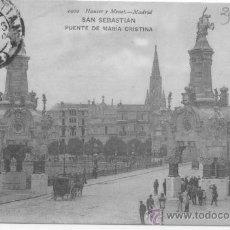 Postcards - SAN SEBASTIAN. PUENTE DE MARÍA CRISTINA. 1902 HAUSER Y MENET. - 32441009