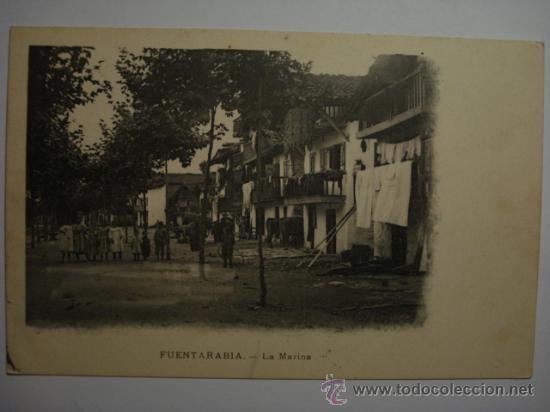 35 HONDARRIBIA FUENTERRABIA FUENTARABIA LA MARINA - - POSTAL - MIRA MAS DE ESTA CIUDAD EN MI TIENDA (Postales - España - Pais Vasco Antigua (hasta 1939))