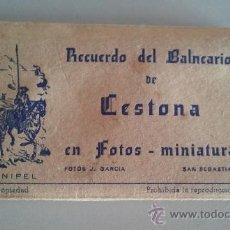 Postales: ACORDEON DE 15 FOTOGRAFÍAS DE CESTONA ( SAN SEBASTIAN ). Lote 32599655